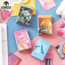Mr. papel 50 pces/livro 4 projetos ins estilo plâncton linguagem série criativo simples bonito mão conta decoração diy material papel