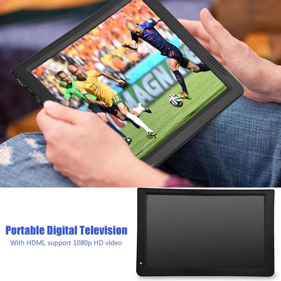 LEADSTAR 12 inch HD Portable TV ISDB-T USB Digital Television Mini Car TV Audio Video Player Support MP4 Monitor EU Plug 8 -