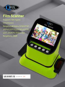Высокое разрешение 22 мега пикселей 120 слайдов Фильм сканер 35 мм отрицательный фото сканер цифровой 135 126KPK пленочный конвертер 4,3