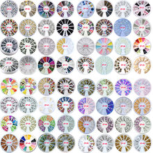 1 коробка Стразы для ногтей 31 дизайн накладных блестящие стразы