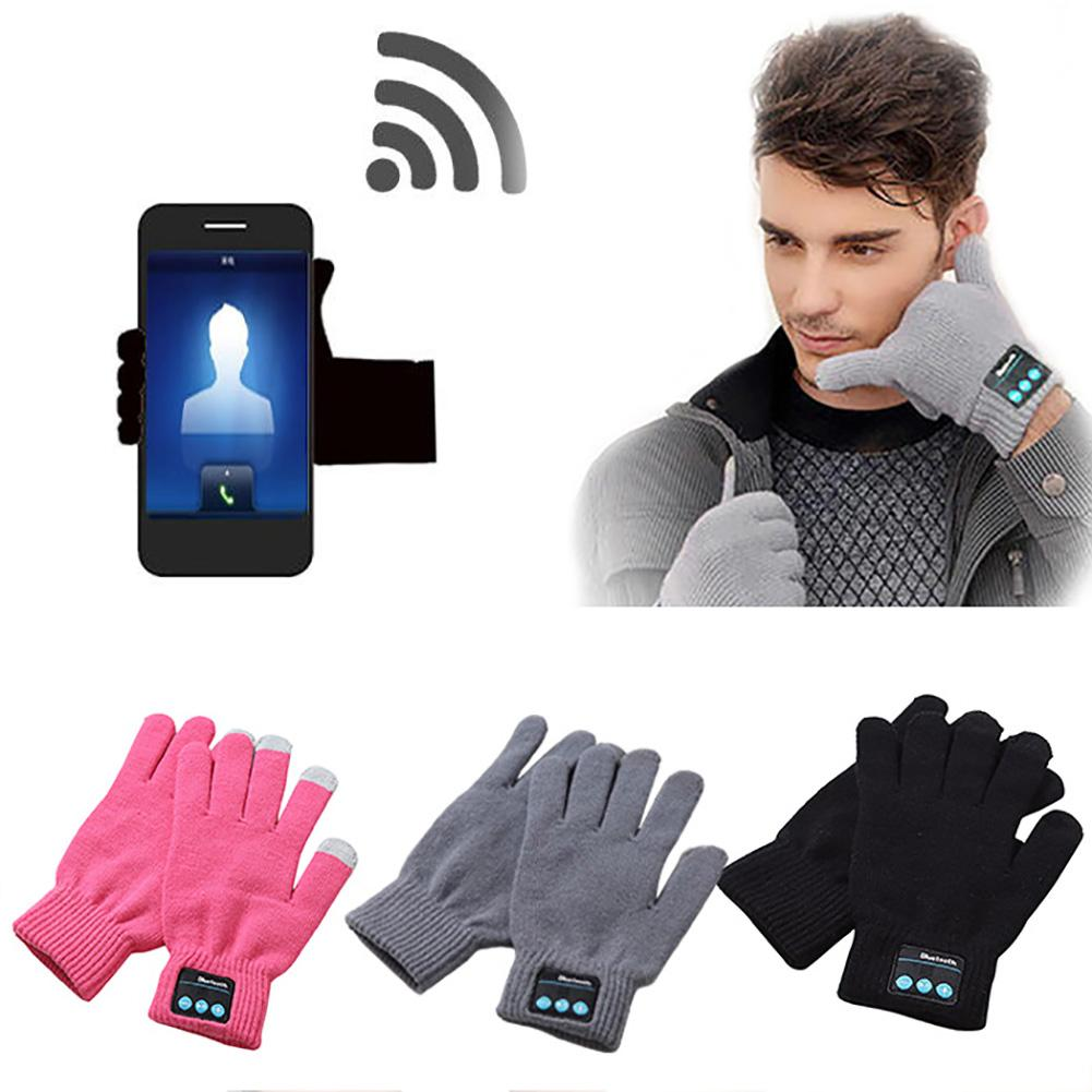 Winter Warm Smarts Touch Screen Bluetooth Wireless Hands Free Calls MP3 Gloves