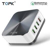 TOPK 50 Вт Быстрая зарядка 3,0 USB зарядное устройство 8 портов USB Мобильный телефон настольное быстрое зарядное устройство для iPhone Samsung Xiaomi EU US UK ...