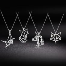 Skyrim Unicorn Fox Crane Pendant Necklace Women Gi