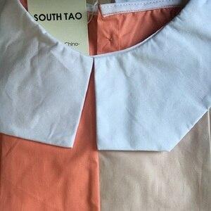 Image 2 - שמלות ילדים חדשות בנות שני צבעים טלאים ילדי קיץ שמלת 2020 כותנה תינוק נסיכת שמלה קיצית פעוטות, #5070
