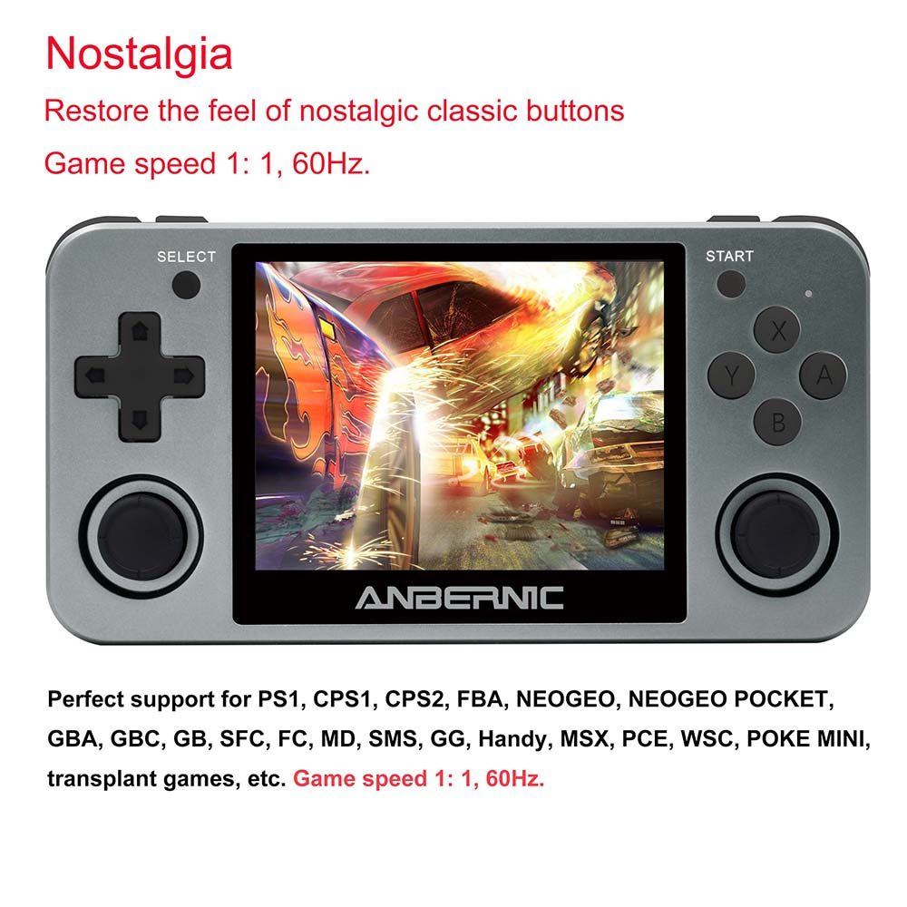 ANBERNIC Retro Game Player RG350M RG350 3.5 IPS 64Bit 32G TF 2500 Games RG 350 HDMI TV Output PS1 Portable Handheld Game Console 3