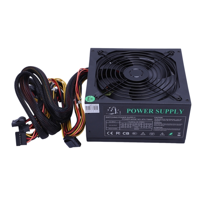 200 260 v 최대 650 w 전원 공급 장치 psu pfc 14 cm 자동 팬 24 핀 12 v pc 컴퓨터 sata 게임용 pc 전원 공급 장치 (amd compu 용)