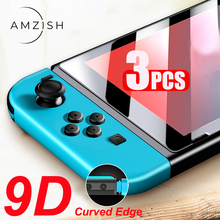 Amzish 3PC 9H HD Protective Tempered Glass For Nintendo Switch NS Screen protector For Nintendo Switch Lite protection Film