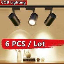Lampe sur Rail COB 220V, projecteur 12W 20W 30W 40W, éclairage sur Rail d'intérieur, spot mural pour magasin de vêtements