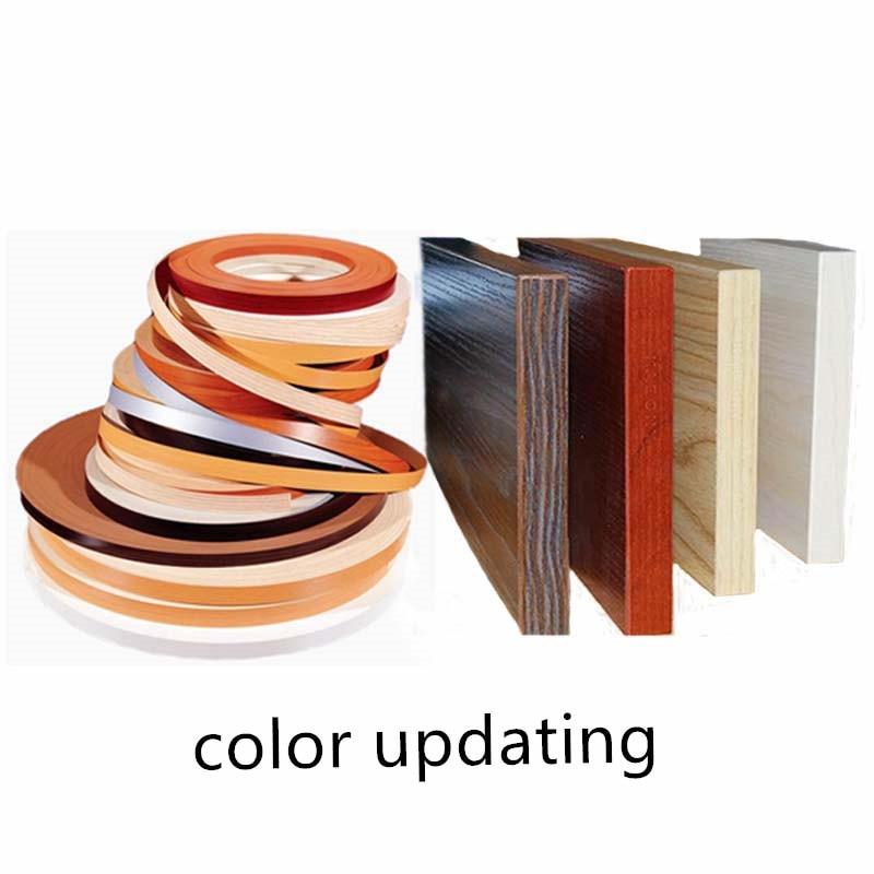 Preglued Veneer Edging PVC Edge Banding 2cm 3cm 22mm 5m for Wood Kitchen Wardrobe Furniture Table Desk Board Edgeband Edger