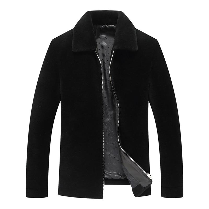 100% Wool 2020 Winter Jacket Men Sheep Shearling Warm Jackets Male Real Fur Coat Plus Size Jaqueta Ym1801 Y1681