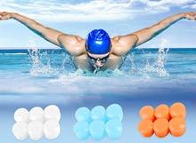 방수 6 pcs 실리콘 소프트 보호 귀 플러그 잠자는 안티 소음 방한용 귀 가리개 수영 스노클링