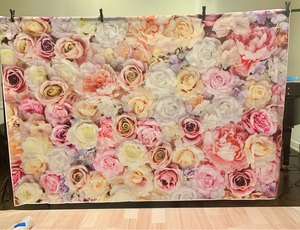 Image 4 - Laeacco Vinyl Photography Backgrounds Floral Wall Rose Flowers Wedding Backdrops Birthday Baby Shower Photozone For Photo Studio