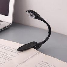 Nova venda quente mini conveniente portátil led livro luz viagem quarto clip-on flexível brilhante led lâmpada de leitura para presentes das crianças