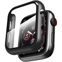 Abdeckung für Apple i Uhr Serie 6 5 4 3 2 1 SE iWatch 38mm 40mm 42mm 44mm 38 40 42 44mm Stoßstange Fall Screen Protector Zubehör