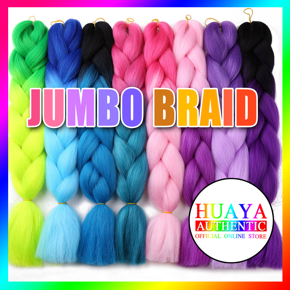 HUAYA Women's Braiding Hair Extension Jumbo Kanekalon Braids Crochet Braiding Hair Ombre Mixed Color 86 Colors Available