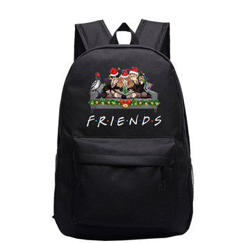 Friends Tv Show Printed Backpack Women Men Daily Portable Backpacks for Teenagers Girls Boys Casual School Bag Travel Bagpack zebella female backpack students laptop backpack school backpacks for girls boys rucksack casual teenagers travel men s bag