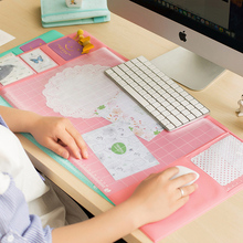 2PCS Multifunction Cute Mouse Pad Desk Organizer Waterproof PVC Oversized Creative Computer Office Stationery Set Game