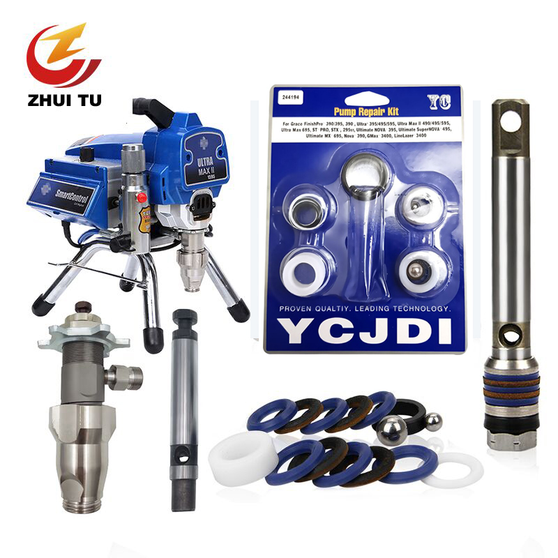 ZHUI TU Airless Sprayer Filter Pump Plunger Rod 695 795 Seal Gasket For  For Graco 390/395/490/495/1095/5900/7900 PC Series