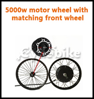 5000w motor wheel with matching front wheel