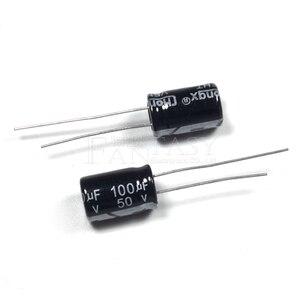 Image 4 - BỘ 50 Higt chất lượng 50V100UF 8*12mm 100UF 50V 8*12 Điện Phân tụ điện