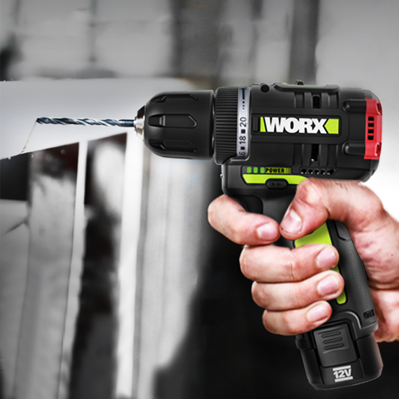 WORX 12V Electric Screwdriver Cordless Drill Mini 320NM Max Torque Wireless Power Driver 2000mAh  Lithium-Ion Battery 2-Speed