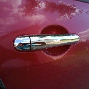Image 2 - Para Renault Megane ii 2 MK2 2002, 2003, 2004, 2005, 2006, 2007, 2008 ABS cromo cubierta de la manija de la puerta trim