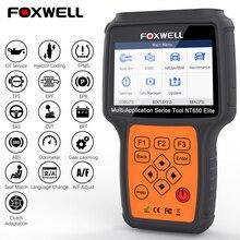 Foxwell NT650 Elite Professional OBD2 Scanner EPB DPF SAS TPMS Oil Reset Injector Coding OBD 2 Code Reader Car Diagnostic Tool