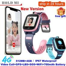 4g crianças relógio inteligente chamada de vídeo gps wifi posição ip67 à prova dip67 água remoto monitor a81 bebê smartwatch câmera pk y95 a80 a36e
