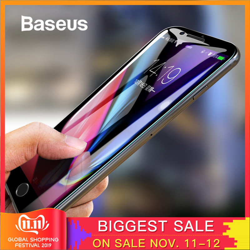 Baseus <font><b>5D</b></font> Screen Protector Für <font><b>iPhone</b></font> <font><b>7</b></font> 8 Gehärtetem Glas Voll Screen Anti Blau Licht Front Glas Für <font><b>iPhone</b></font> <font><b>7</b></font> plus 8 Plus Glas image