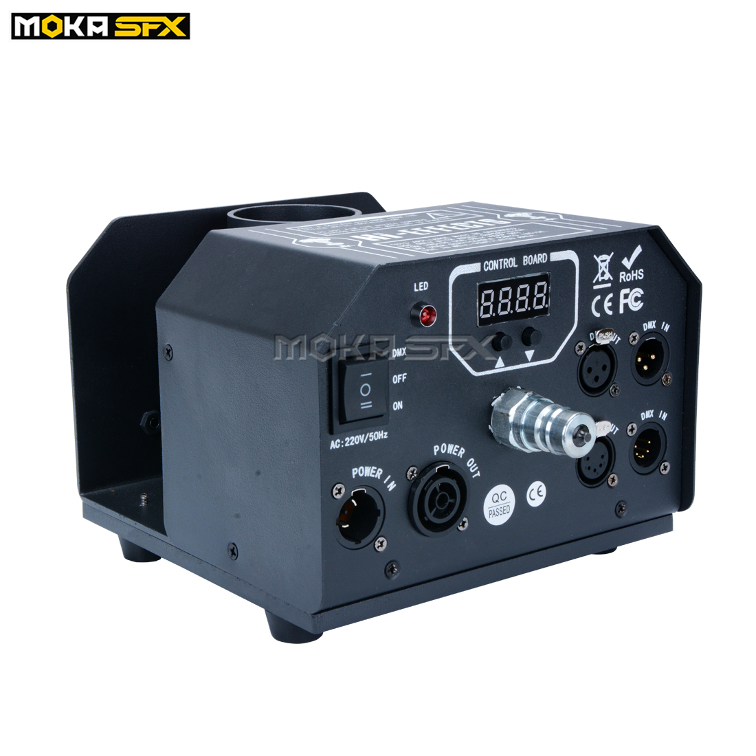 180 Degree Moving Head CO2 Jet Connon DMX Co2 Jet Machine No Ice Shoot 15m With Safe Channel