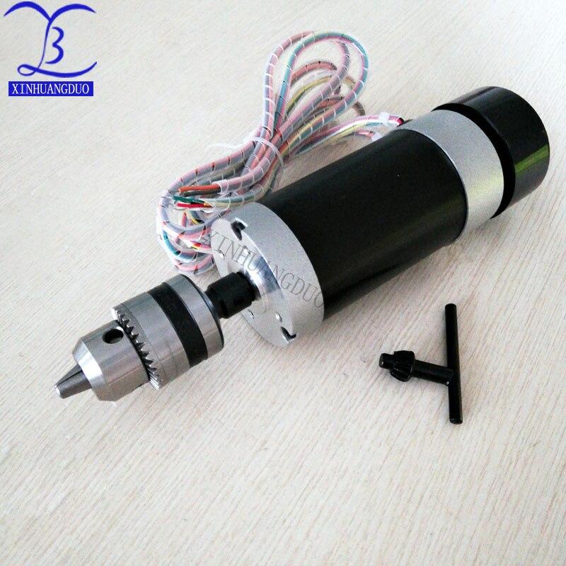 Mandrin de perceuse à moteur 500W | Mandrin de perceuse à moteur sans balais 48VDC, gravure à distance et fraisage, broche refroidie par Air + ventilateur, serrage de bouche Long 1.5 - 10 - 5