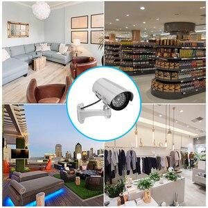 Image 5 - Sztuczna kamera manekina wodoodporna kamery monitoringu bezpieczeństwa CCTV aparat z diodą Led światła na zewnątrz kryty imitacja aparatu