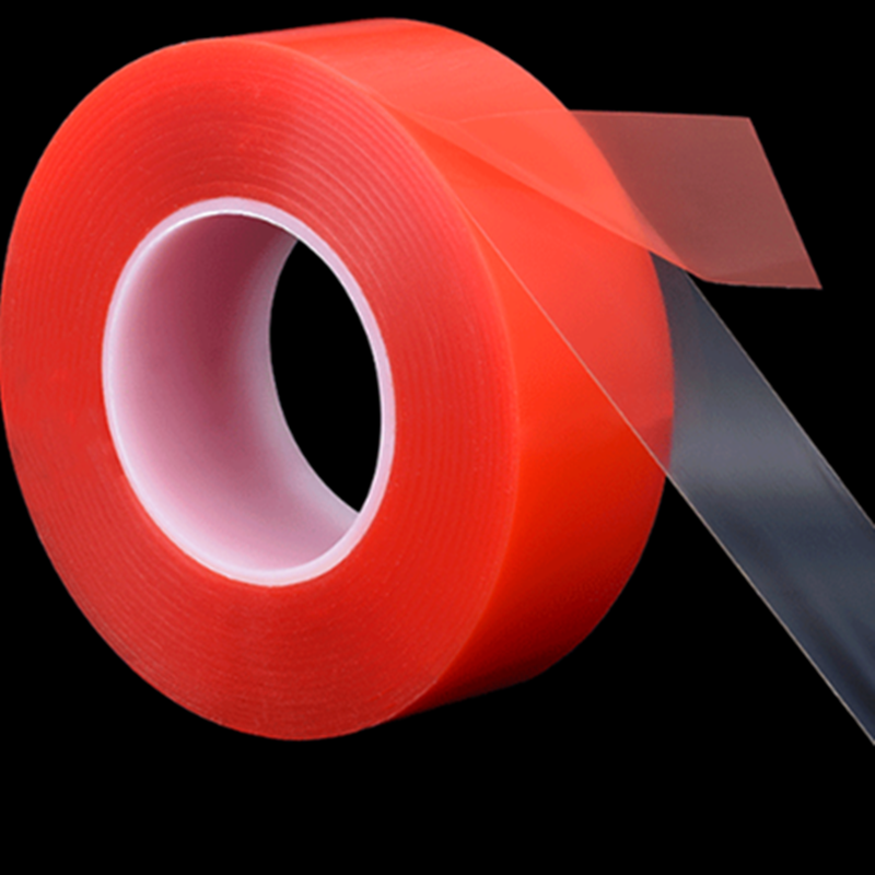 0.2mm thick 1mm-50mm*50Meter Strong Clear PET Double Sided Adhesive Tape for Phone LCD Screen