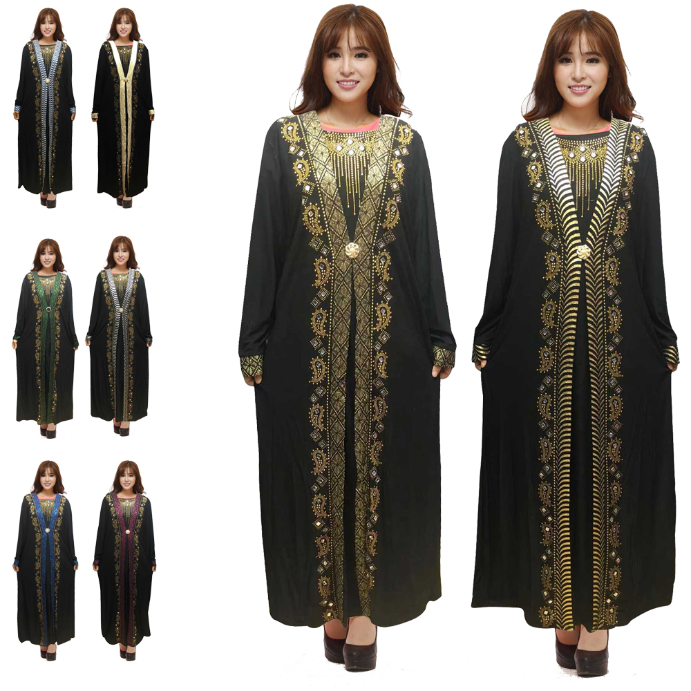 Islam Muslim Black Abayas Robe For Women Turkish Dresses Dubai Kaftan Turkey Islamic Clothing Malaysia Takchita Djellaba Jilbab