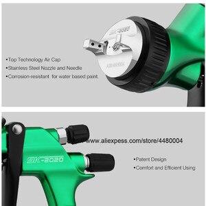 Image 5 - Hohe Qualität Spray Gun Gravity Spritzpistole 1,3mm Düse 600cc Kunststoff Topf Ideal Auto Malerei Werkzeug