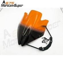 Motorcycle Smoke Windshield Windscreen for Kawasaki Z750 Z750R 2007-2012 Black Wind Deflector Clear Green Orange