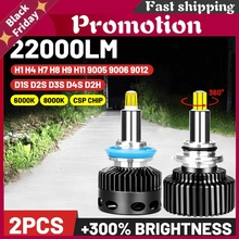 D1s Led H1 H11 Headlight H4 H7 Ice Lamp 20000lm 360 D2s D3s D4s D2h Super Car Bulb H8 H9 9012 Hb3 Hb4 Fog Lights 9005 9006 Ptf