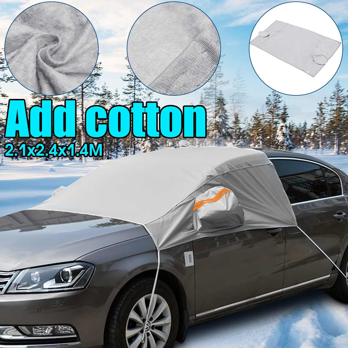 240cmx200cmx147cm Universal Car Front Window Windscreen Covers Sunshade Cover Snow UV Ice Shield for Windshield Winter Summer