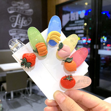 New Girl Hair Pins Jewelry Bb Clip Cute Fruit Vegetable Hairpin Stick Bangs Head Accessories Women Pin