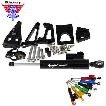 Motorcycle Mounting Holder Steering Damper Bracket Stabilizer For Kawasaki Ninja 400 Ninja400 2009 2010 2011