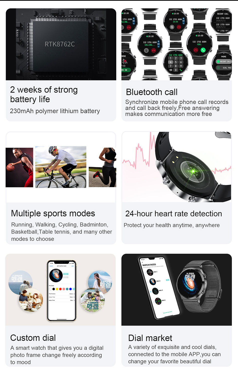 H0aacebd52e604656b1685af26b3aae33u LIGE New Smart watch Men Heart rate Blood pressure Full touch screen sports Fitness watch Bluetooth for Android iOS smart watch