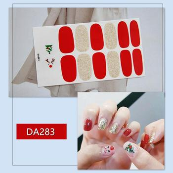 1 Sheet 3D Christmas Multi-Style Watermark Film Packaging Self-adhesive Nail Art DIY Salon Nail Art Stickers Decoration Manicure image