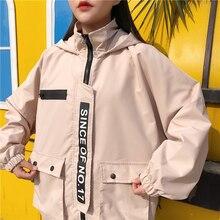 winter jacket ladies streetwear double pockets denim women jacket