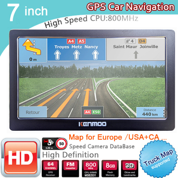7 Inch HD GPS Portable Navigation 2021 Maps for Europe Russia Car TRUCK CAMPING Caravan Navigator Sat Nav Free Lifetime Updates