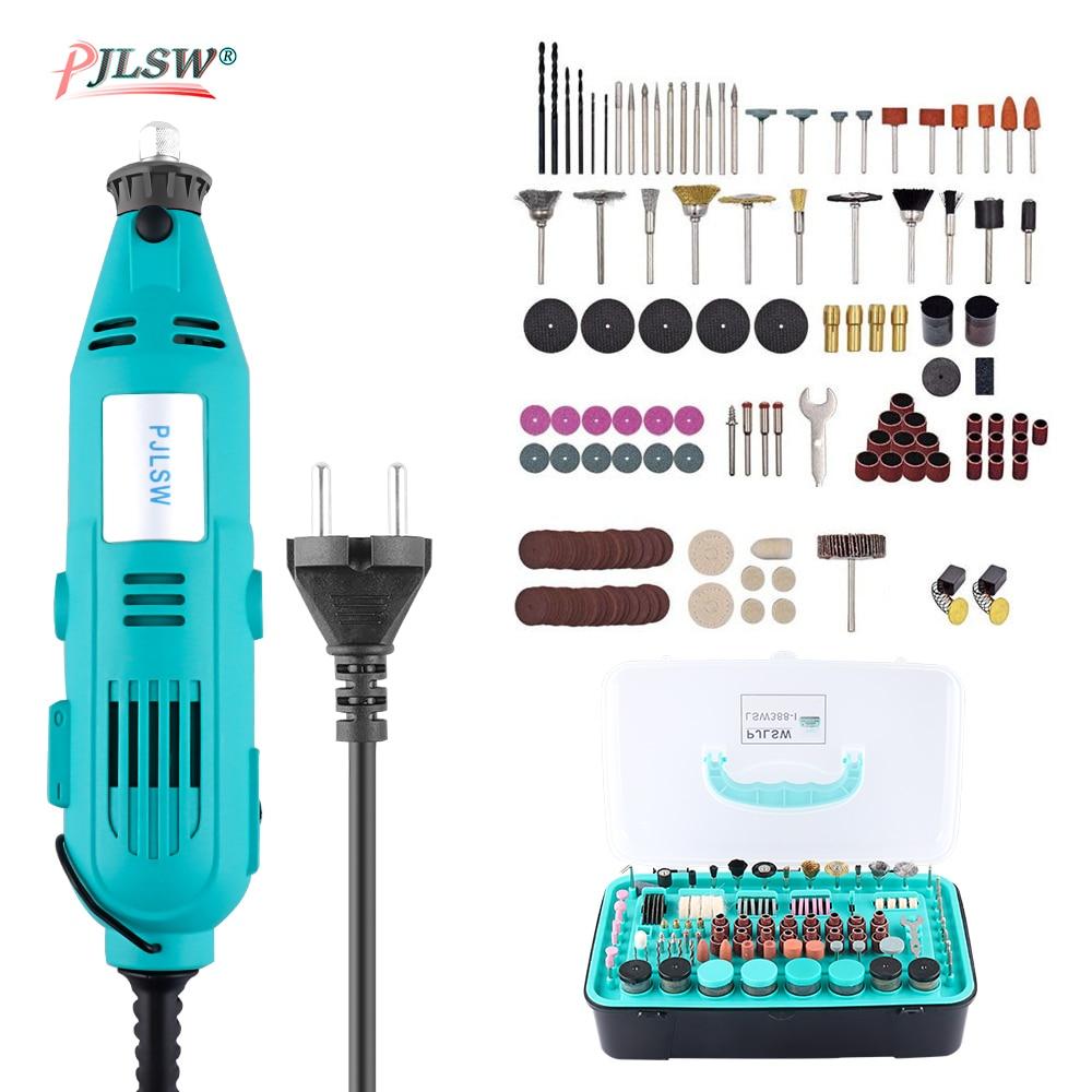 Perceuse électrique électrique rotatif kit d'outils électriques Mini perceuse avec support pince accessoires pour Dremel perceuse Machine coupe polissage