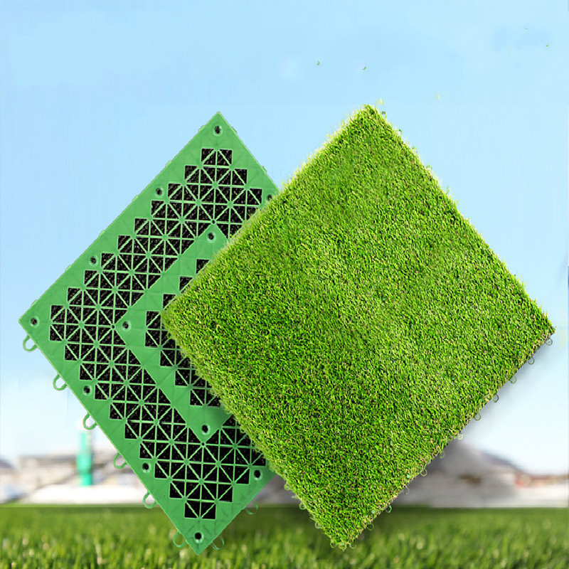 10PCS CTN Artificial Turf Balcony Lawn Mat with the Bottom Plate Can Be Spliced Lawn Indoor and Outdoor Ground Decoration