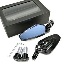 Uniwersalny motocykl 22mm Bar End boczne lusterko wsteczne 2 sztuk aluminium 7 8 #8222 motocykl kierownica rowerowa lusterka wsteczne tanie tanio EAFC CN (pochodzenie) Motorcycle Aluminum Rear View Mirror Lusterka boczne i akcesoria