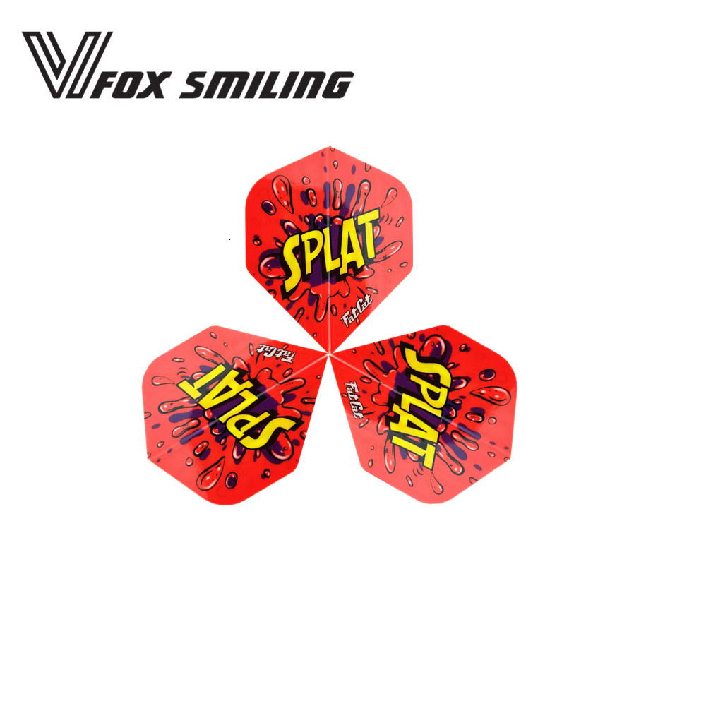 Fox Smiling 30pcs Nice Pattern Darts Flights For Professional Darts Wings Tails Darts Accessories Red DFL-113006