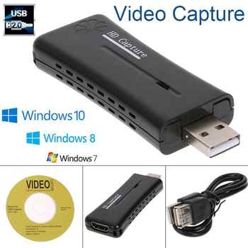 USB2.0 Video Capture Card HDMI 1Way Gaming Video Capture Card for Win7/8/10 - DISCOUNT ITEM  58 OFF Security & Protection