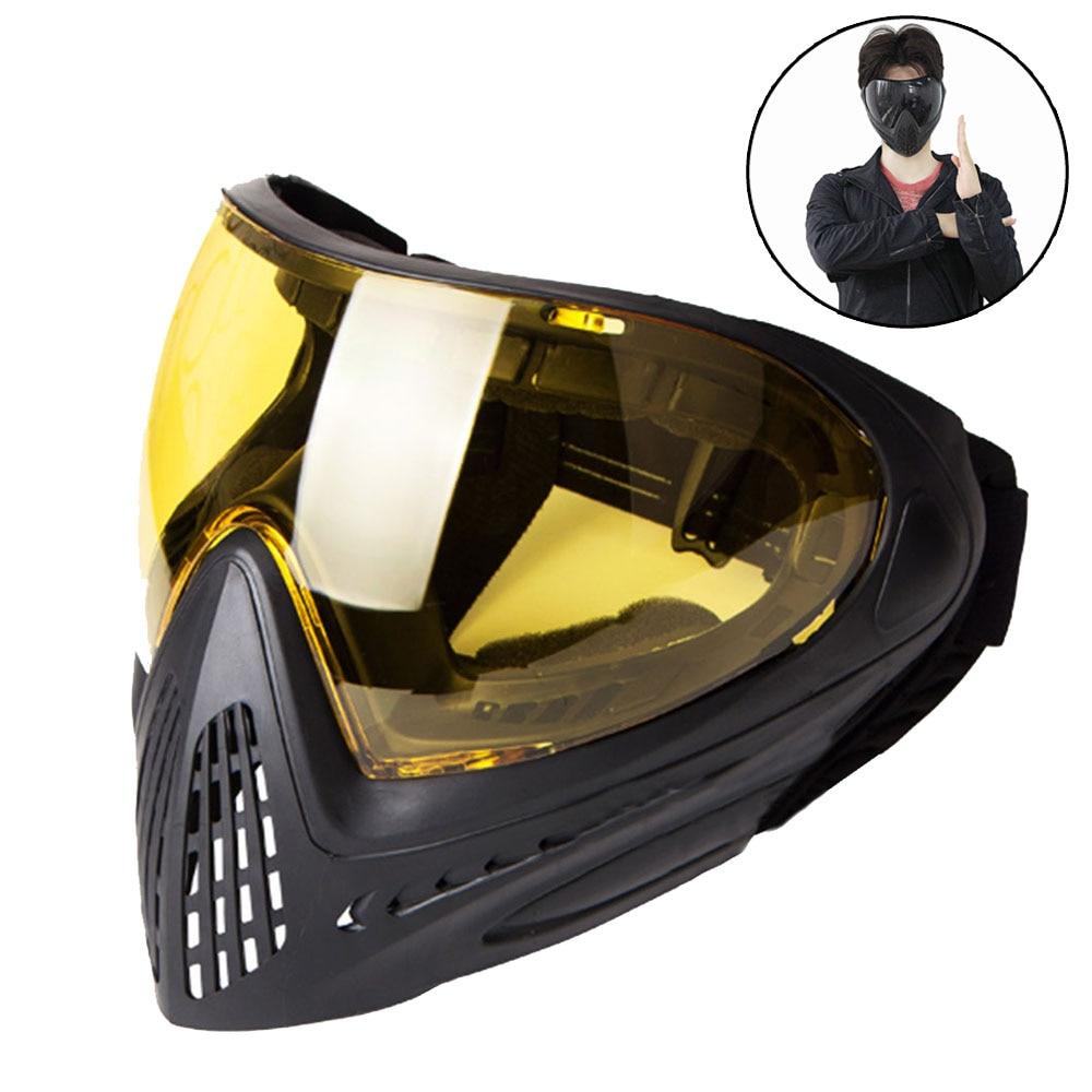 Lunettes tactiques Airsoft Anti-buée masque complet moto lunettes Paintball lunettes Protection des yeux pour la chasse à vélo